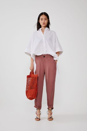 Zara Dames Pantalons - Soepelvallende broek