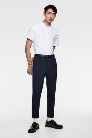 Zara Heren Overhemden - Piqué overhemd met maokraag