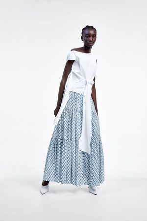 Zara Lange rok met print