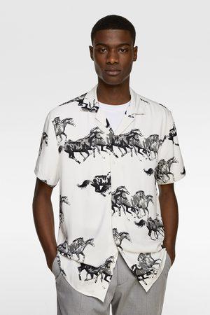 Zara Overhemd met paardenprint