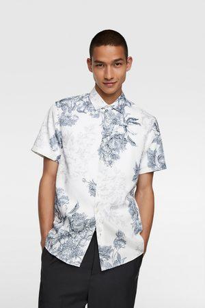 Zara Heren Overhemden - Overhemd met bloemenprint