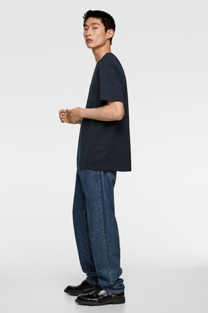 Zara Heren Shirts - T-shirt met zakje