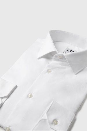 Zara Overhemd met structuur en italiaanse kraag