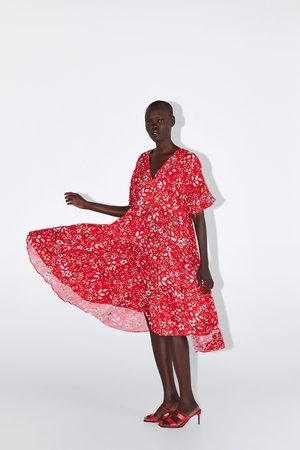 Zara Midi-jurk met bloemenprint