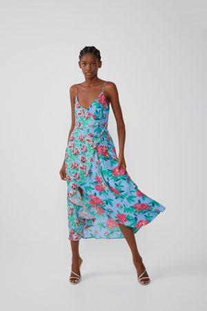 Zara Asymmetrische jurk met print