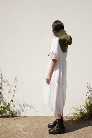 Zara Asymmetrische popeline jurk