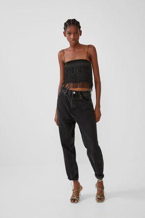 Zara Cropped top met franjes