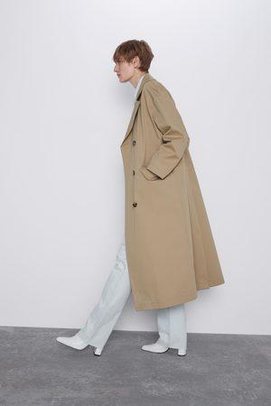Zara Lange trenchcoat met knoopjes