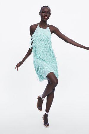 Zara Korte jurk met franjes