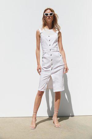 Zara Denim jurk met schouderbandjes