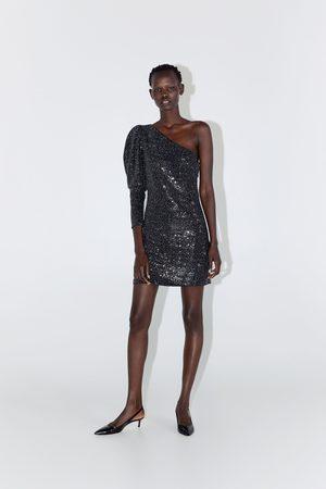 Zara Asymmetrische jurk met lovertjes