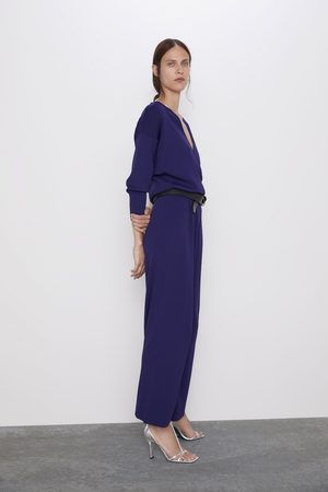 Zara Tricot jumpsuit met overslag