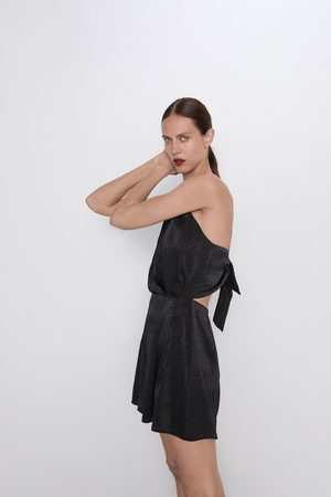 Zara Satijnachtige jumpsuit met stippen