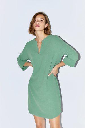 Zara Korte jurk met structuur