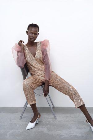 Zara Organza jumpsuit met lovertjes