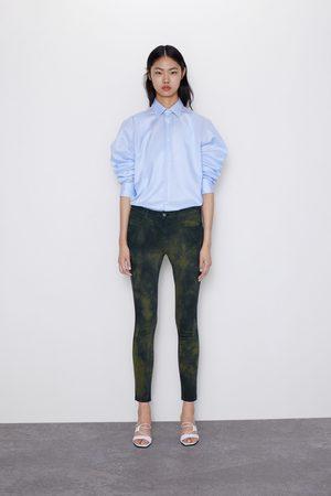 Zara Skinny jeans z1975 met halfhoge taille en tie-dye