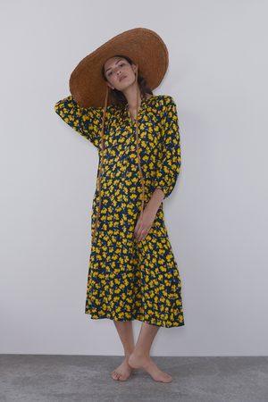 Zara Lange jurk met bloemenprint