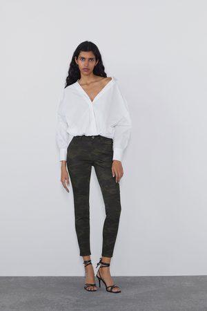 Zara Skinny jeans z1975 met mid-rise en stiksels
