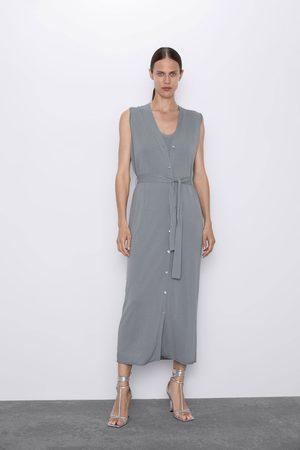 Zara Tricot jurk in giletmodel