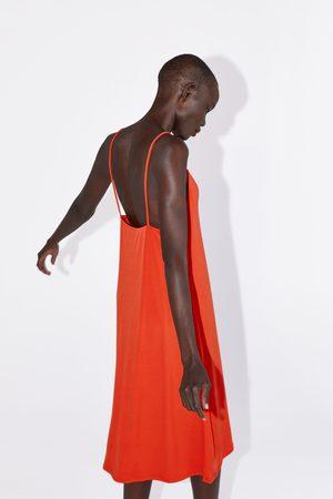 Zara Jurk met schouderbandjes