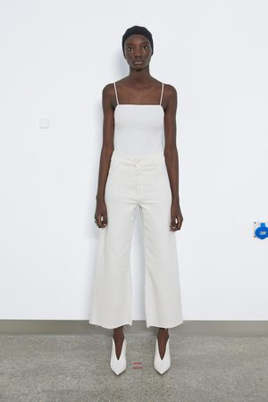 Zara Dames Straight - Jeans zw premium marine straight