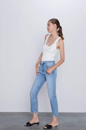 Zara Z1975 jeans met gerafelde pijpen