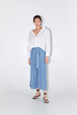 Zara Culotte-broek in paperbagstijl