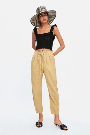 Zara Baggy broek met bandplooien