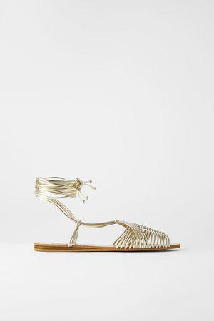 Zara Platte sandalen met ronde bandjes
