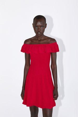 Zara Tricot jurk met volant