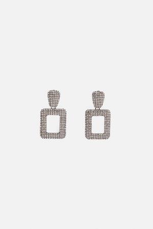 Zara Glanzende geometrische oorbellen