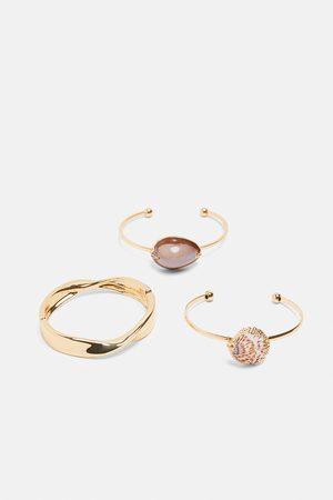 Zara Set van drie gecombineerde armbanden
