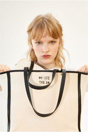 Zara Canvas shopper
