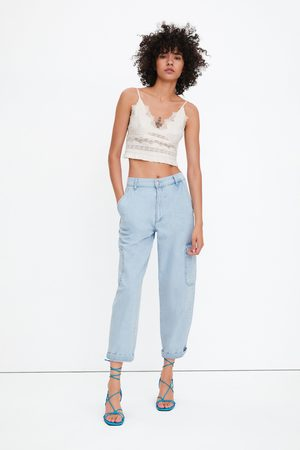 Zara Cropped top met kant in lingeriestijl