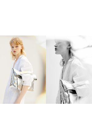 Zara Extra grote clutch in metallic look