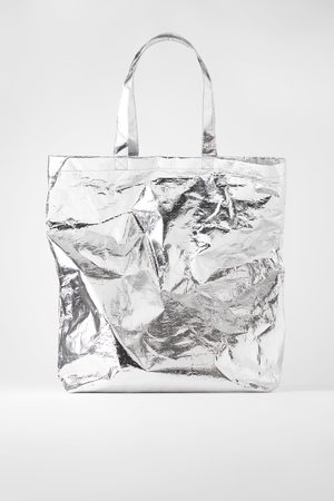 Zara Extra grote shopper in metallic look