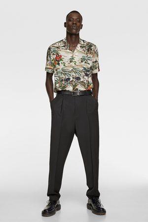 Zara Blouse met tropische print