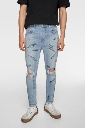 Zara Jeans met tekstprint