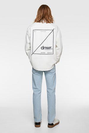 Zara Denim overhemd met tekst