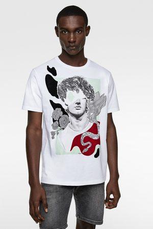 Zara T-shirt met doodshoofdprint