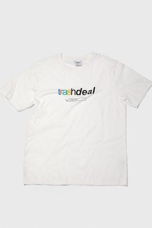 Zara T-shirt met tekst van gecombineerde materialen
