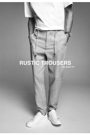 Zara Rustieke broek met trekkoord