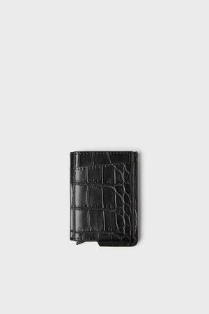 Zara Bewerkte zwarte portefeuille