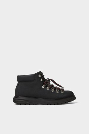 Zara Zwarte bergschoenen van premium stof