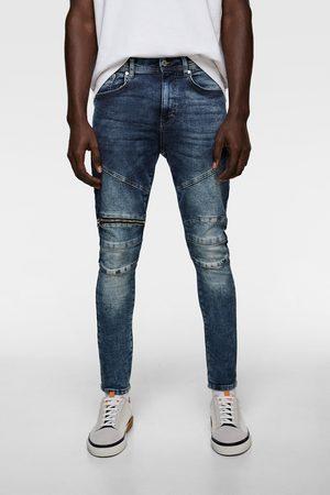 Zara Biker jeans met ritsjes