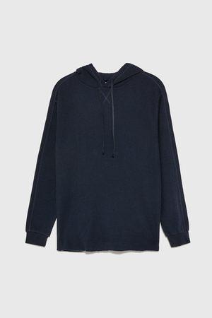 Zara Gestructureerd sweatshirt met cuadrillé