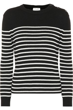 Saint Laurent Striped cotton and wool sweater