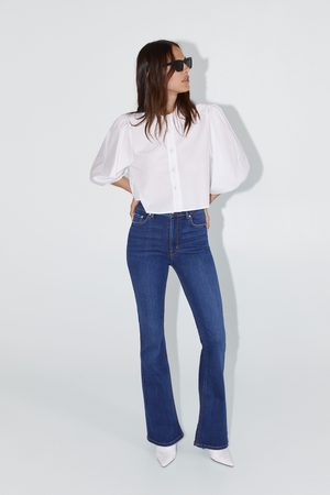 Zara Dames Skinny - Skinny premium jeans met wijde pijpen