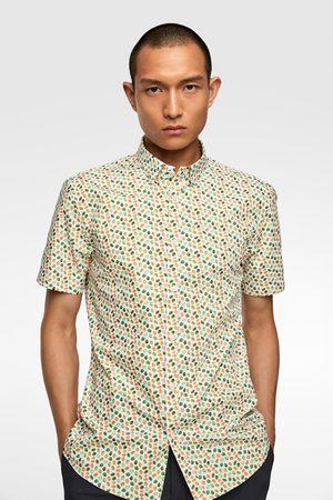 Zara Overhemd met blaadjesprint