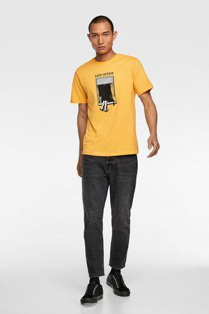 Zara Heren Shirts - T-shirt met raam